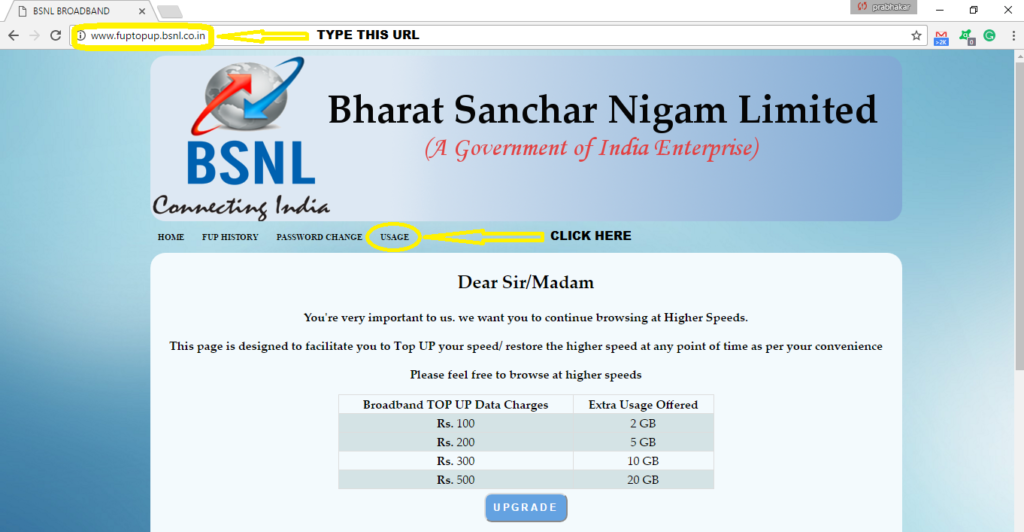 how-to-check-bsnl-broadband-usage