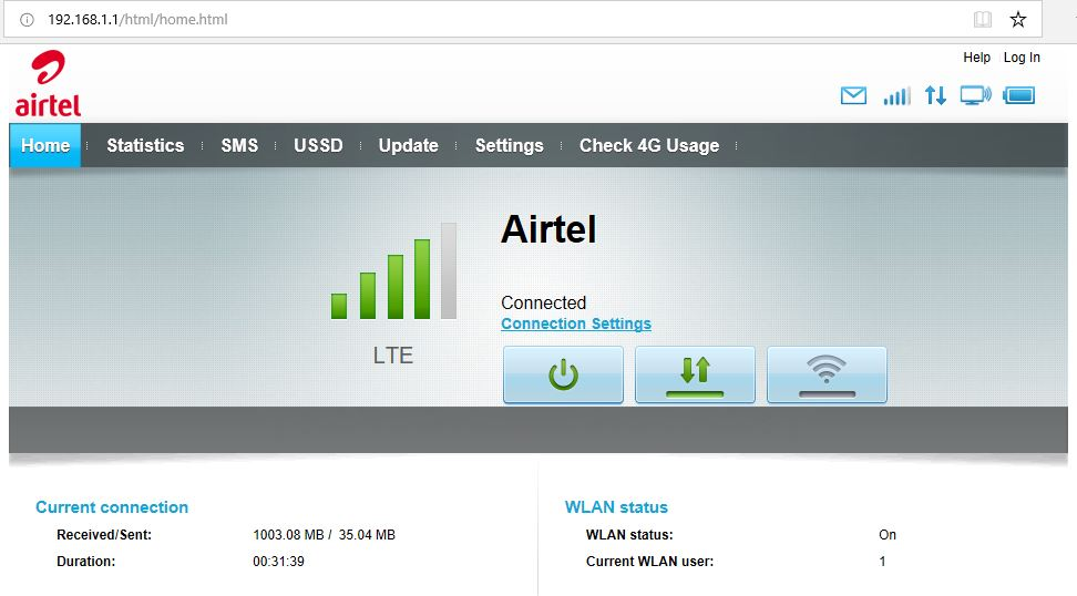 airtel-4g-hotspot-login-screen