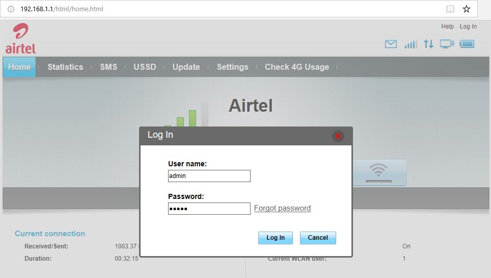 airtel-4g-hotspot-login-username-password