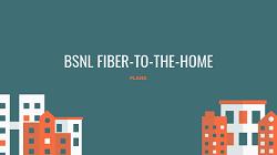 BSNL FTTH PLANS